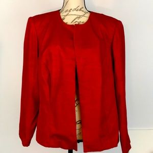 Leslie Fay Red Blazer Jacket